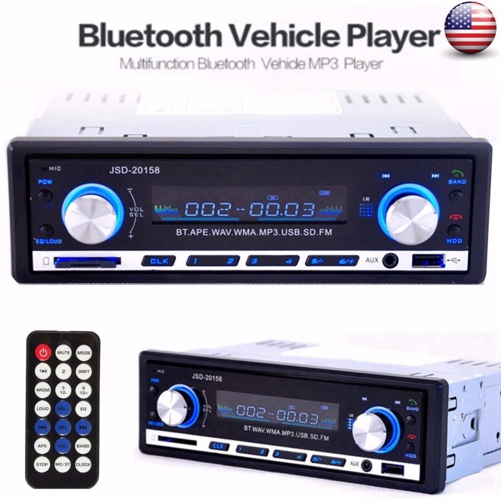 Generic Bluetooth Car Stereo Mp3 Player USB SD AUX Audio Player 1 DIN  In-Dash Radio e8c6ed23c0
