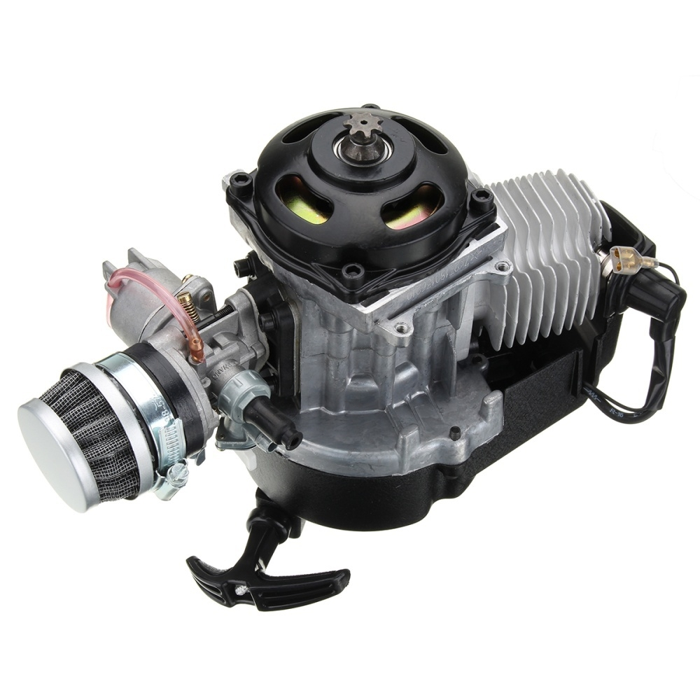 Buy Generic 49cc 2 Stroke Complete Engine Motor With Air Filter Carb Kill Remote Control Atv Wiring Image