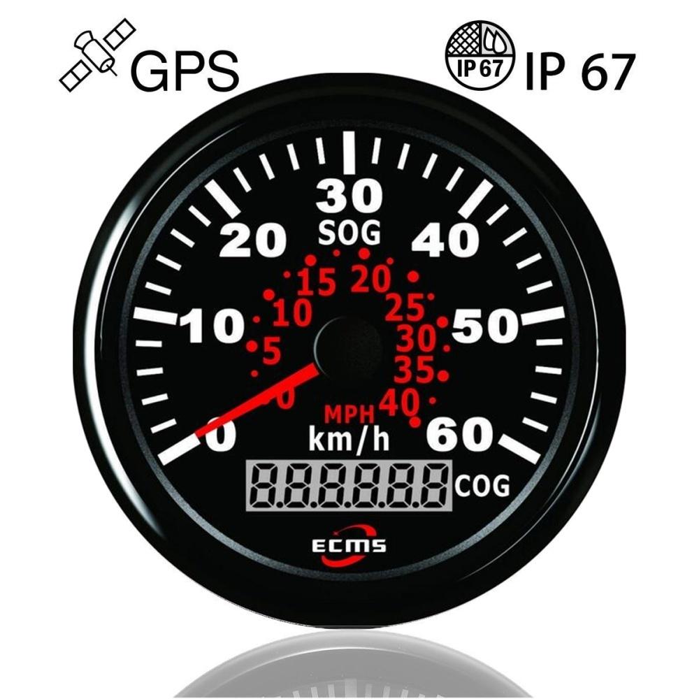 Generic AU 85mm Waterproof Auto Car Truck Marine Speedometer Gauge
