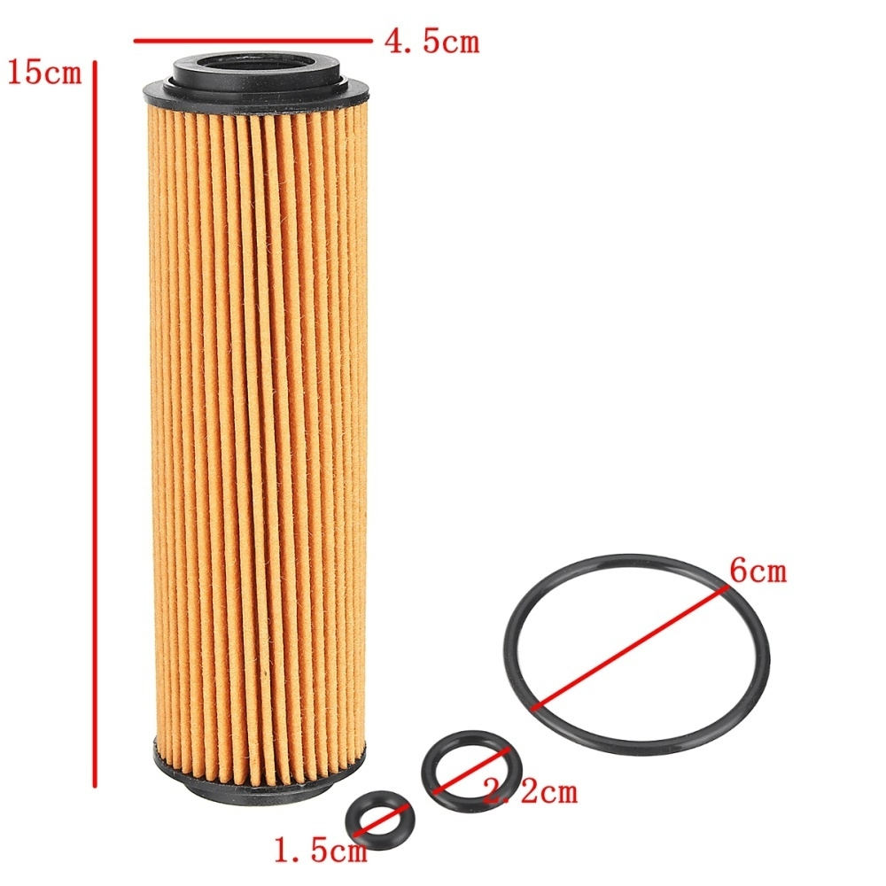 Buy Generic 4pcs Engine Oil Filter With Gasket Kit For Mercedes Benz C230 Fuel Image