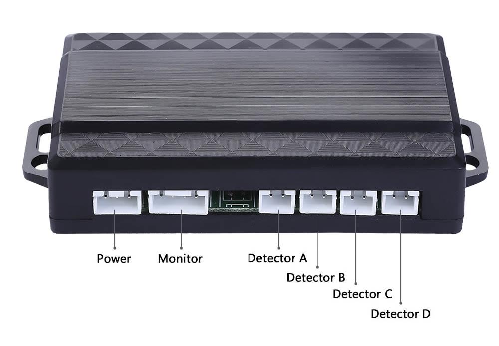4 Sensors Car Parking Auto Reverse Rear Assistance Radar Buzzer Alarm Monitor System