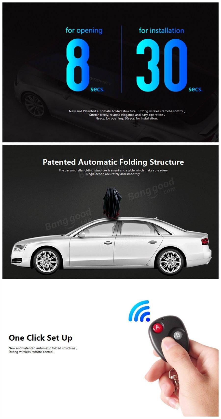 Generic Mynew Portable Removable Automatic Car Umbrella