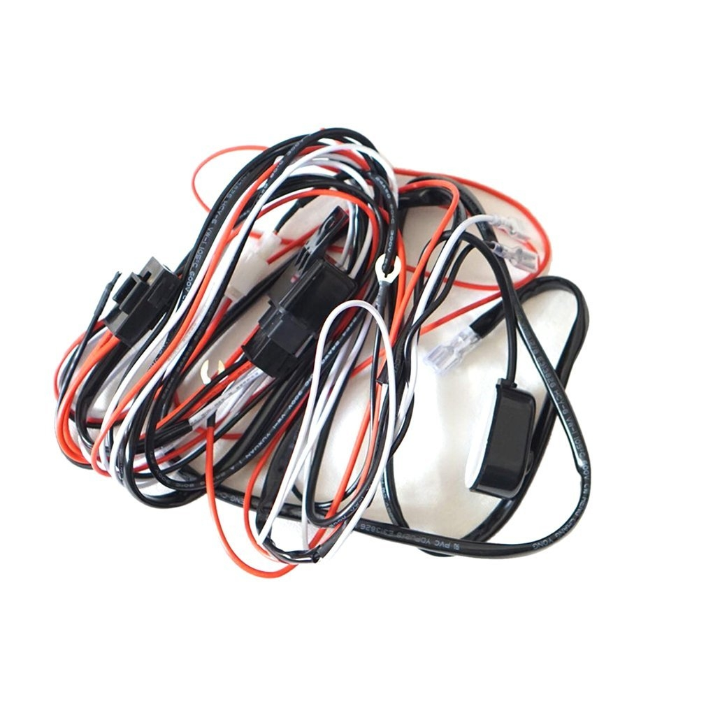 Buy Generic Led Hid Driving Wiring Harness Kit Fog Work Light Wire Accessories 12v 40a Bar Image