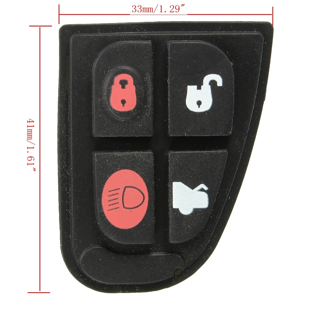 Generic 4 Button Remote Key Fob Case DIY Repair Kit Pad For Jaguar X