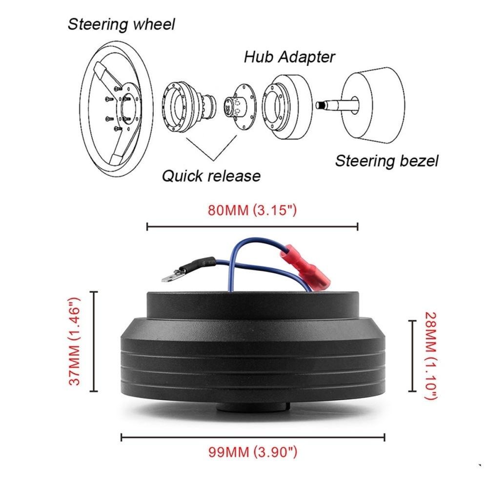 Buy Generic Aluminum Steering Wheel Hub Adapter Boss Kit For 92 95 Diagram Image