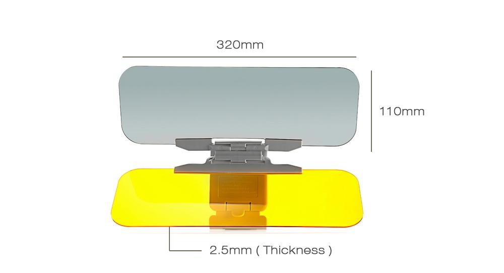 Car Auto Day / Night Anti-glare Sun Visor Mirrors Glass