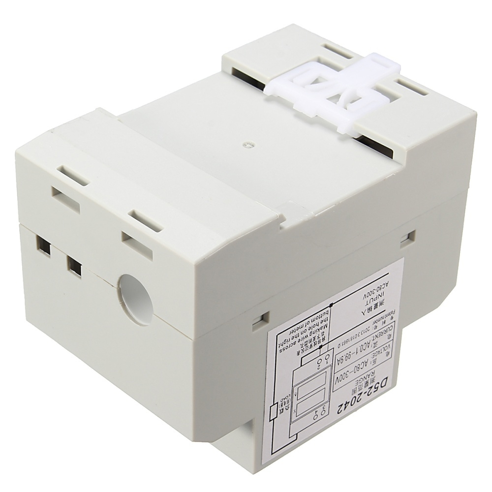 Buy Generic Ammeter Voltmeter Din Rail Led Volt Amp Voltage Meter Monitor Which Uses A To Show The Status Of Power Supply Display Mode 05 Inch Digital Tube Range Ac 80 300v Current 02 999a You Can Use Transformer If Is Higher Than