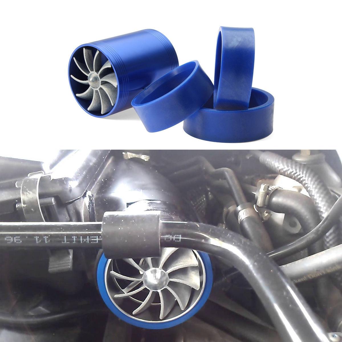 Generic Supercharger Power Air Intake Turbonator Dual Fan