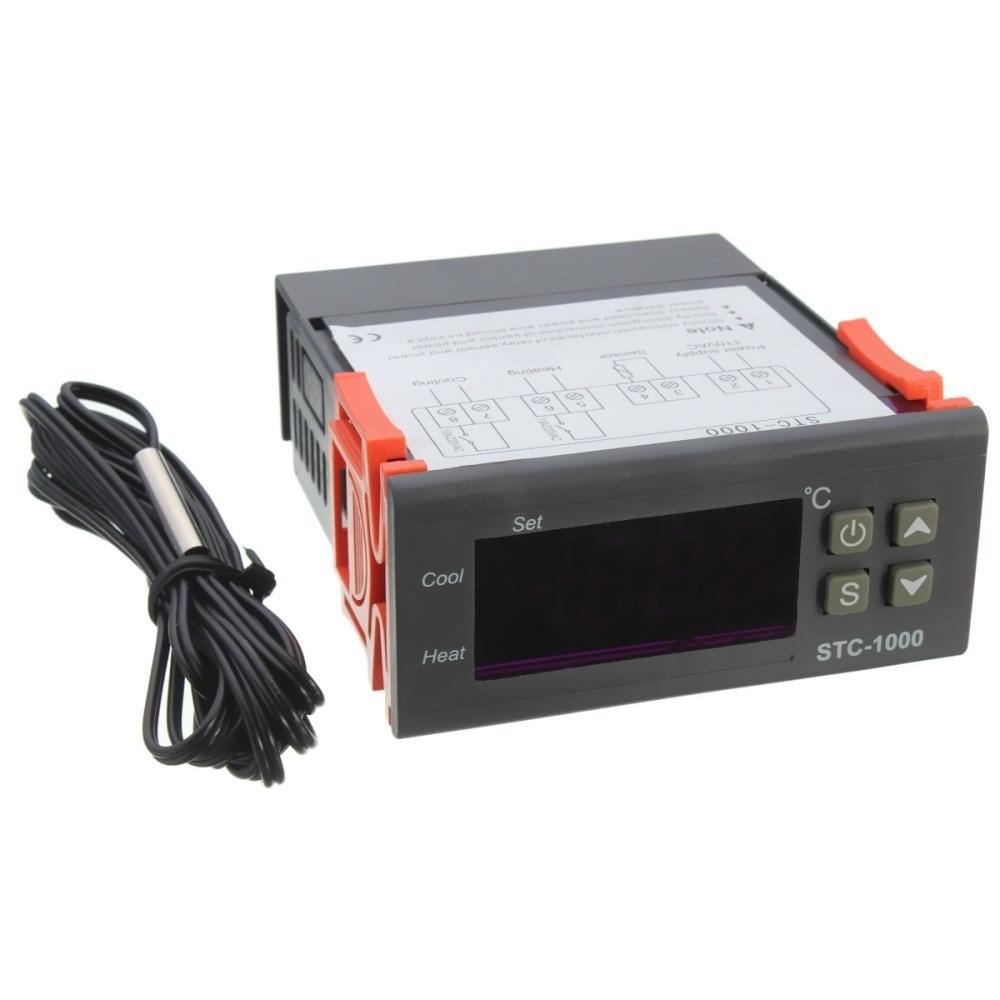 Buy Generic Digital Stc 1000 All Purpose Temperature Controller Regulator Thermostat Cool Heat Stc1000 Cooling Heating Single Sensor Correction Image