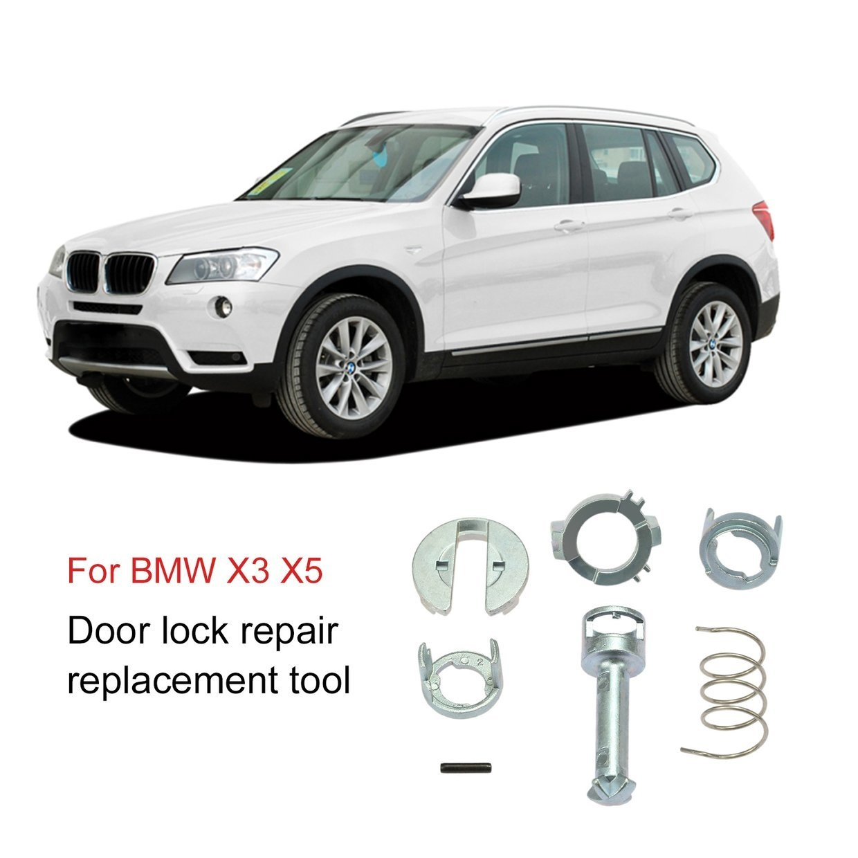 Generic Or 7pcs Door Lock Repair Kit Replacement For Bmw X3 X5 Left