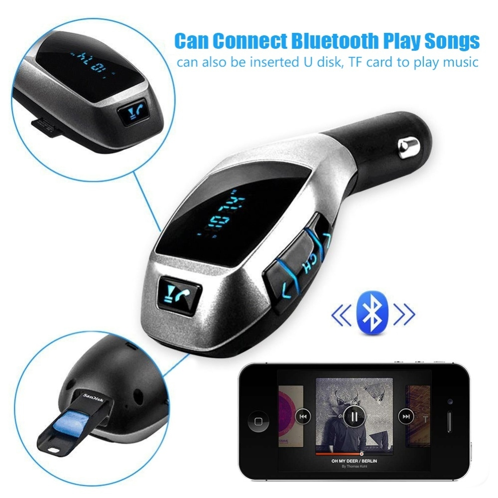 Buy Generic Wireless Bluetooth Car Mp3 Player Fm Transmitter Usb Dc 5v Micro Power Supply Hands Free Lcd Screen Kit Map3 Charge Mp4 Adpaterbluetooth Music