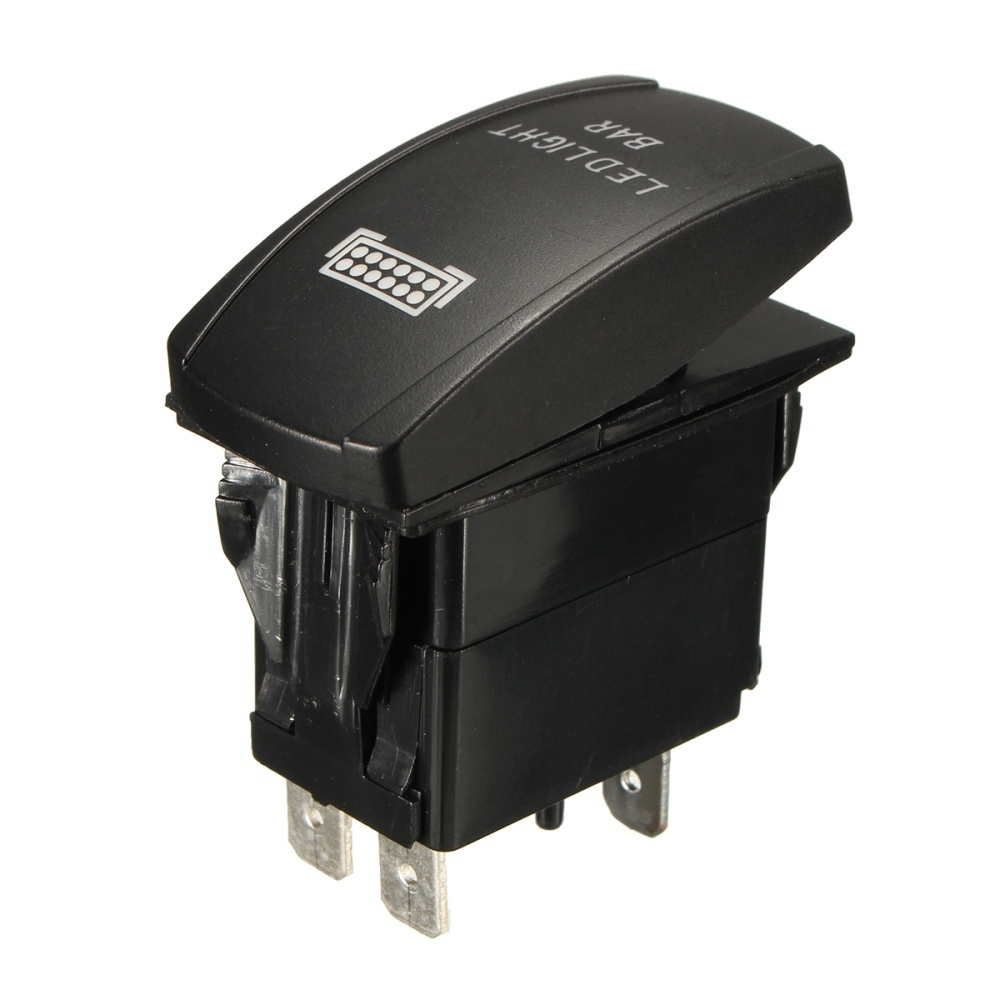 Buy Generic Nice 12V LED Light Bar Laser Rocker On/Off Switch Wiring ...