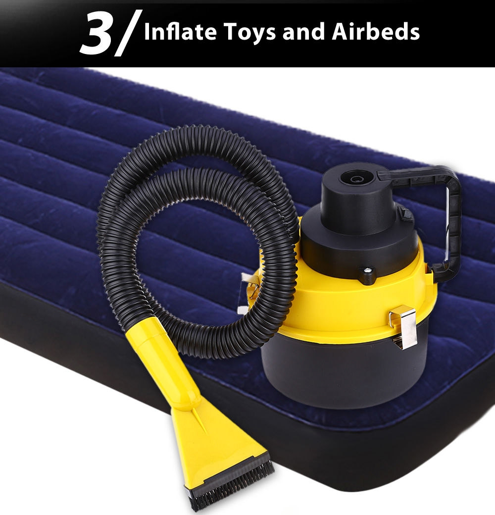 Automobile Cleaner 12V Large Capacity Air Inflation Three Sucker