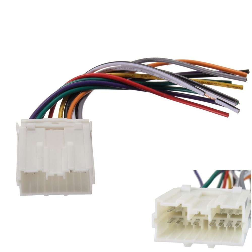 Generic Car Stereo CD Player Wiring Harness Wire Aftermarket ... on