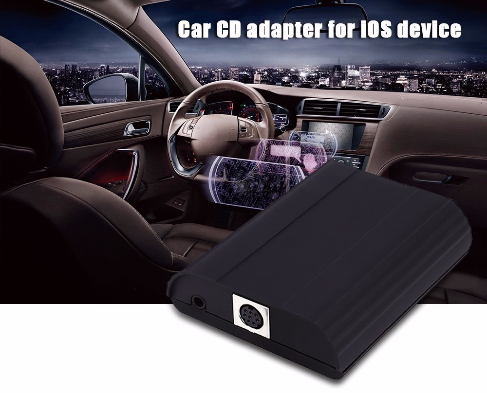 generic car cd adapter music player 8 pin aux audio. Black Bedroom Furniture Sets. Home Design Ideas
