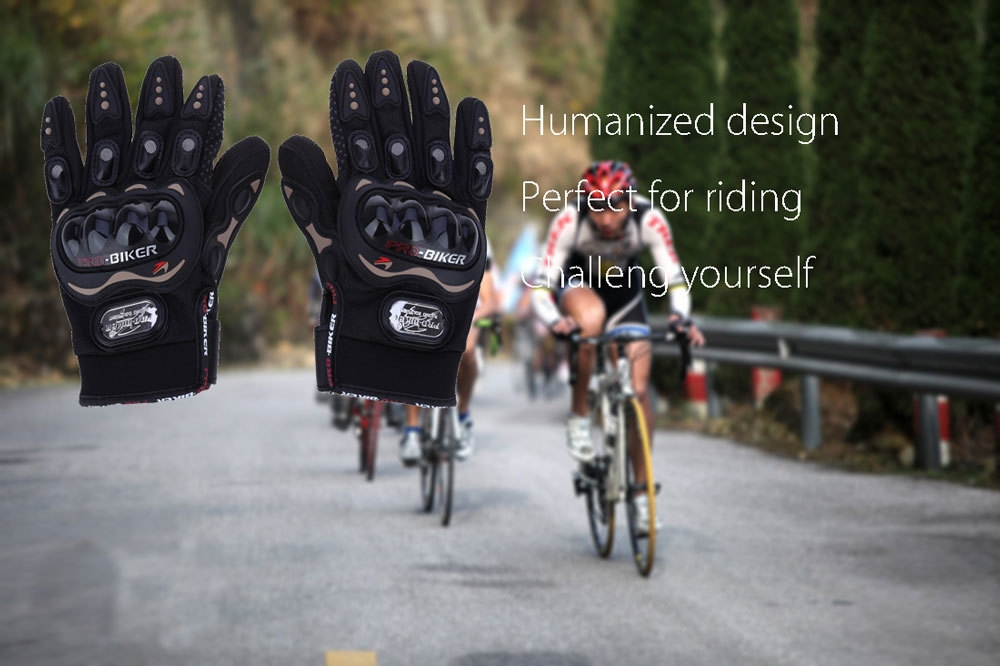 Paired Full Finger Motorcycle Gloves Motorbike Outdoor Sports Racing Protective Gears