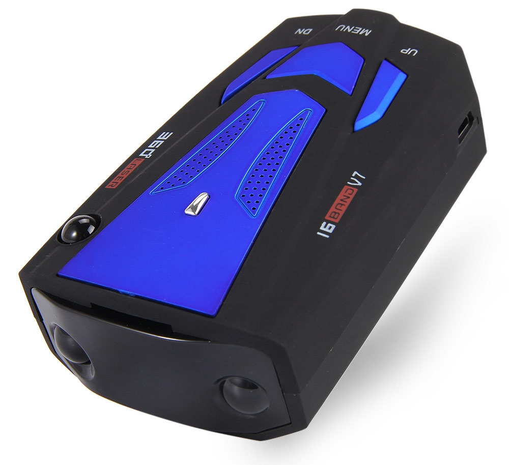 Car Trucker Speed V7 Radar Detector Voice Alert Warning 16 Band Auto 360 Degrees