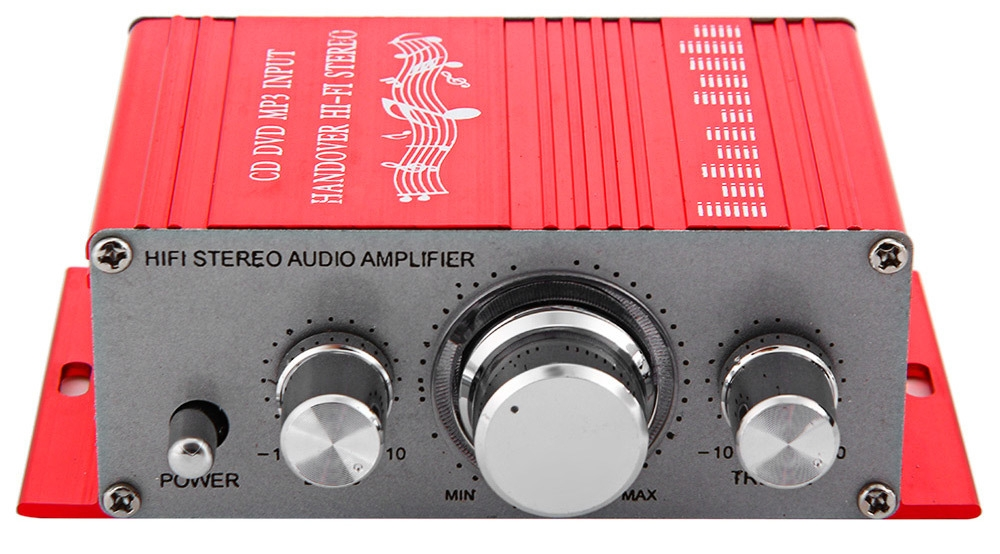 HY - 2001 Hi-Fi 12V Mini Auto Car Stereo Amplifier 2 Channel Audio Support CD DVD MP3 Input for Motorcycle Home