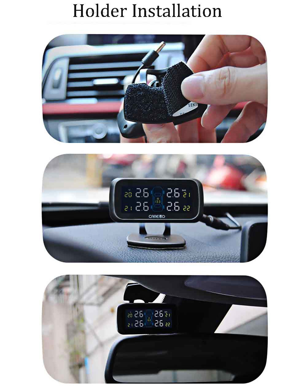 U903 433.92MHz Wireless TPMS Tire Pressure Monitoring System 4 External Sensors