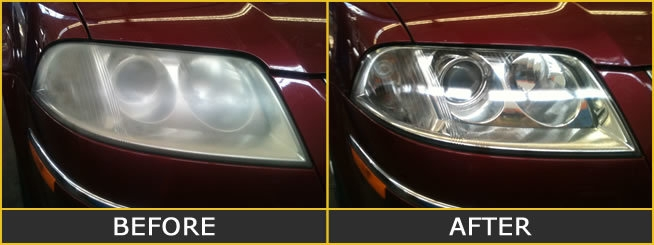 Image result for headlight restoration before after