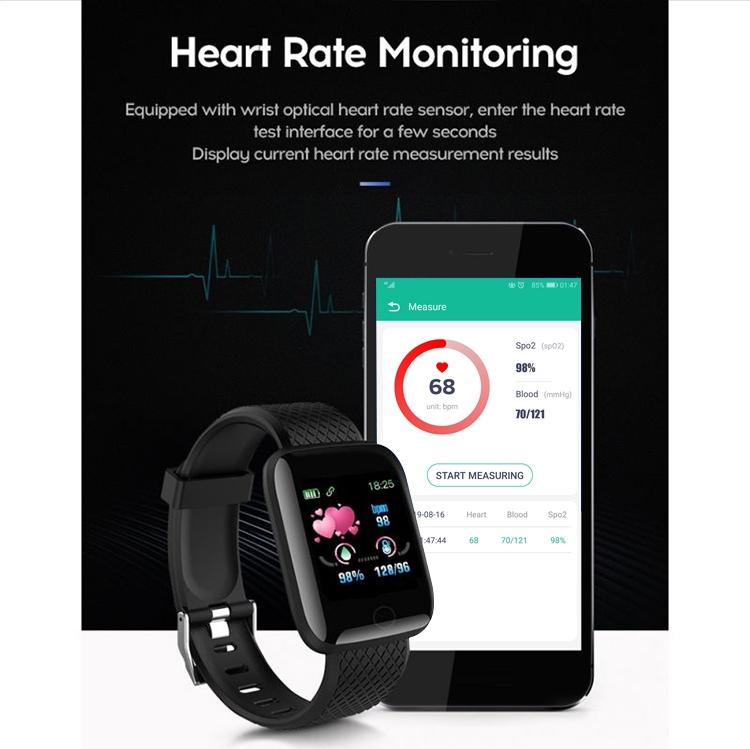 Amazon Hot Selling smart watch 116 plus wrist band bracelet blood pressure sport wristband fitness a6s smartwatch