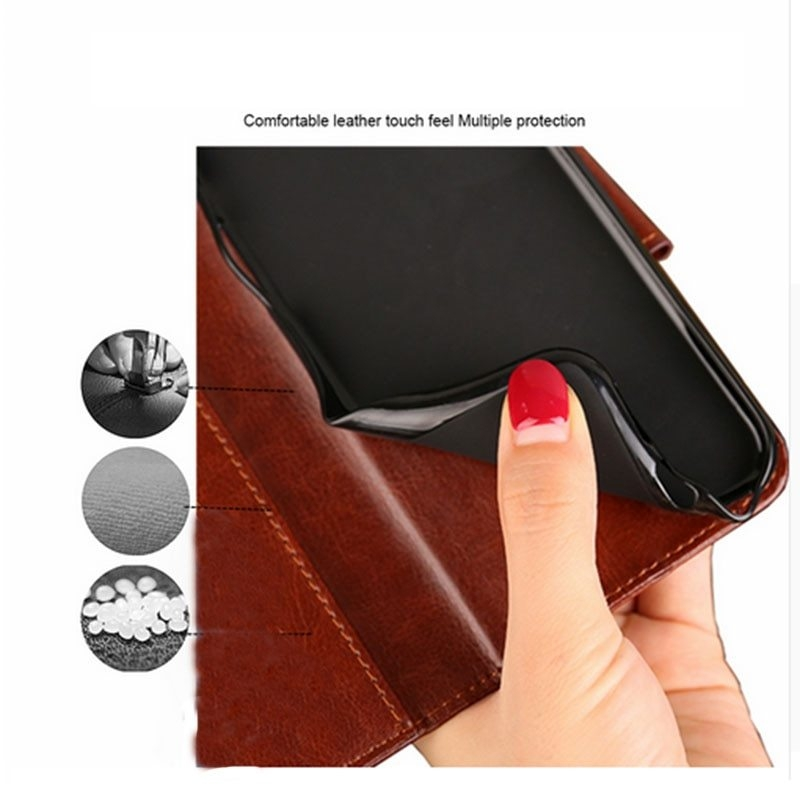 PU Leather Flip Wallet Phone Case Cover For Xiaomi Redmi Note 5 6A S2 6 Pro F1 Mi A1 A2 Mi 8 Lite 8 SE 4X 4A 5 Plus Note 4X Capa (1)