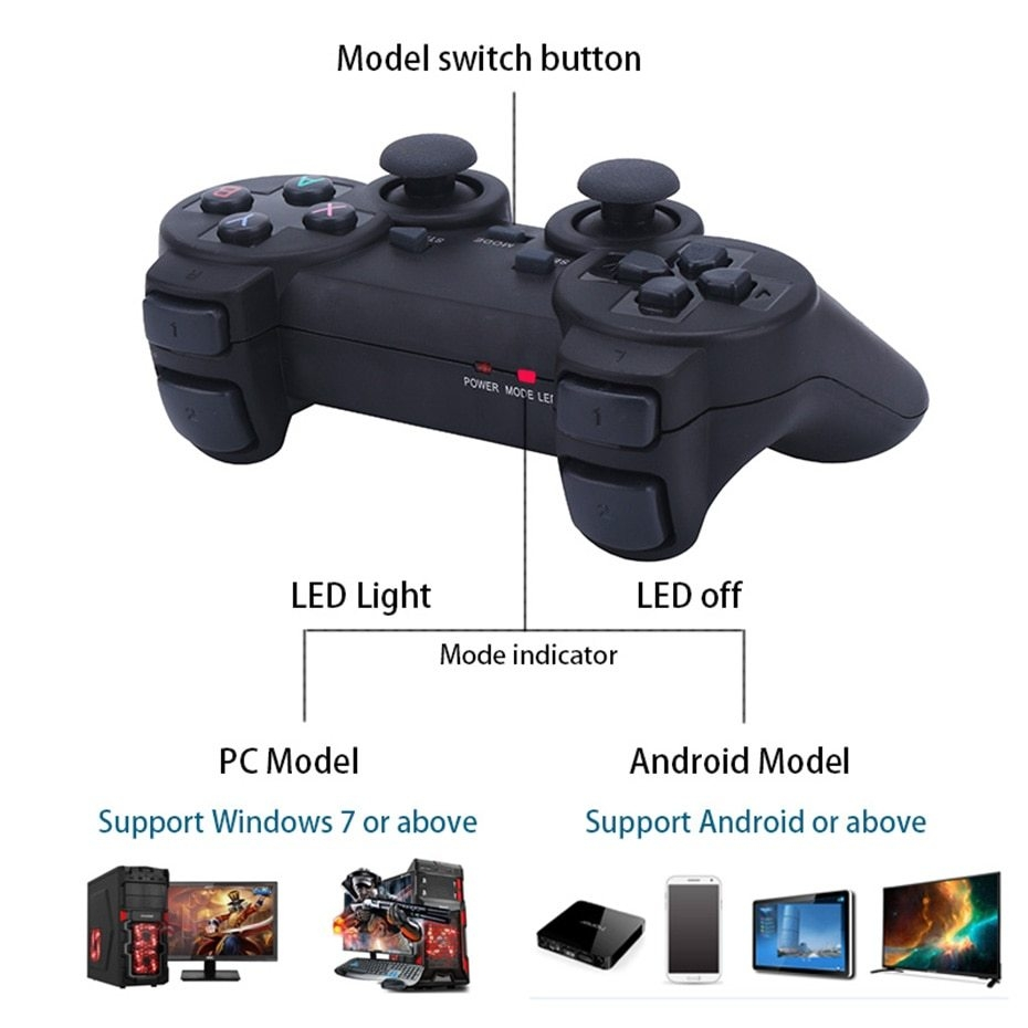 Generic 2 4G Wireless Android Gamepad Joystick Controller