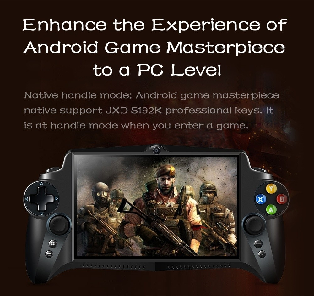 JXD S192K Game Phablet 7 inch IPS Screen Gamepad with Quad-core 1.8GHz ARM Cortex - A17 / 4GB DDR3 RAM / 64GB High-speed EMMC for Andriod 5.1