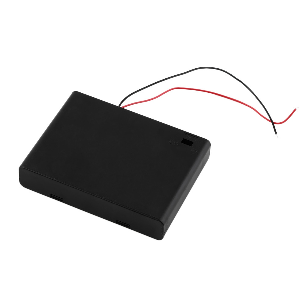 Buy Allwin Black Plastic 6 Aa Battery Storage Case Box
