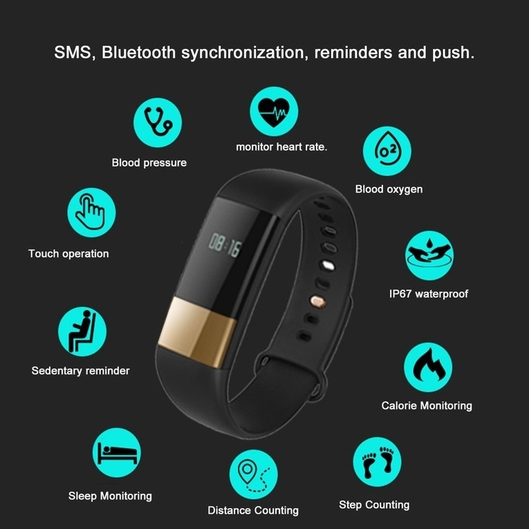 53d85435cc52dc Generic M4 Waterproof Bluetooth Sport Sleep Monitor Sedentary Reminder  Smartband BDZ Mall