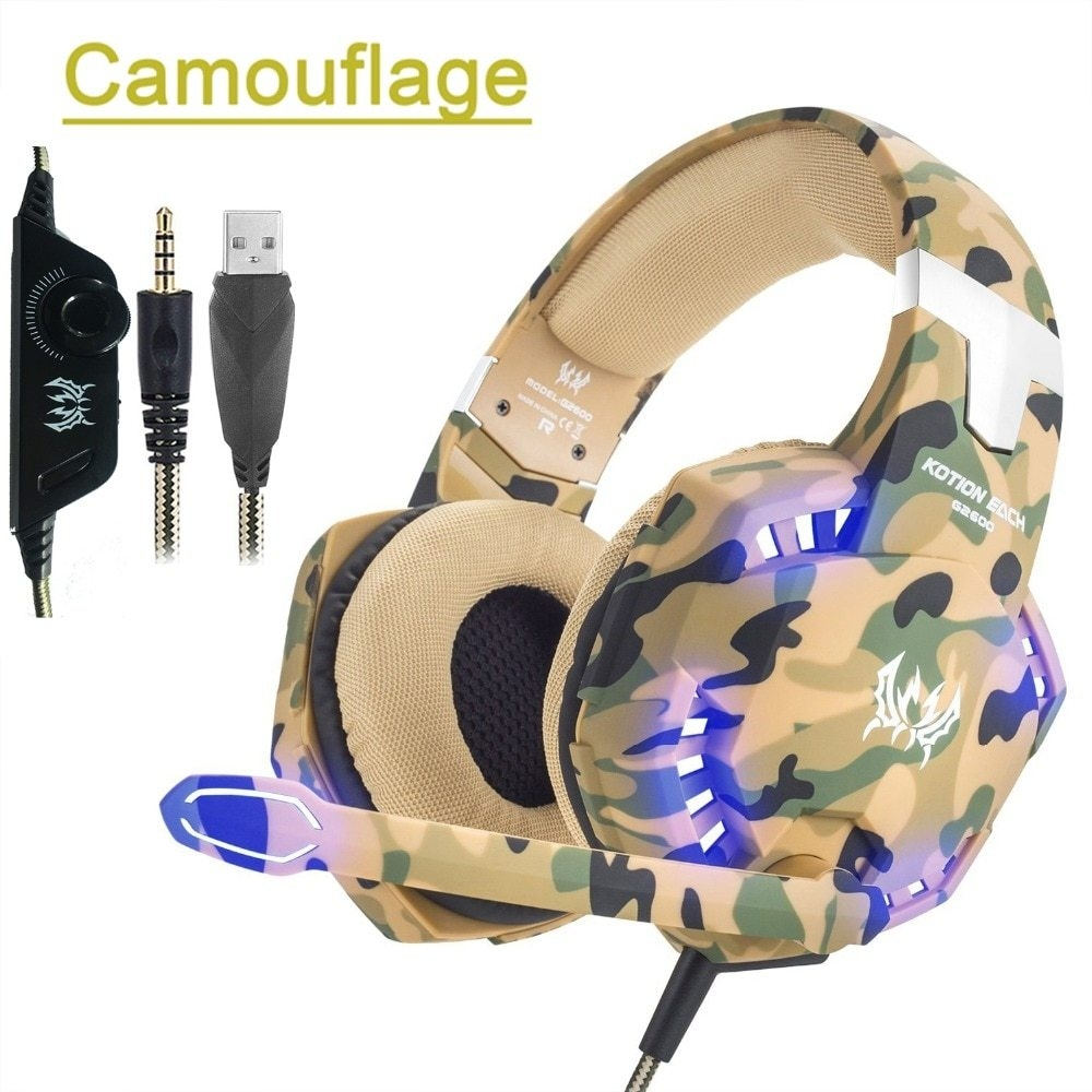 Generic KOTION EACH G2600 Camouflage Stereo Gaming Headset