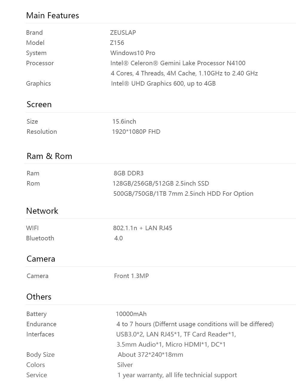 Z156 8+HDD-7