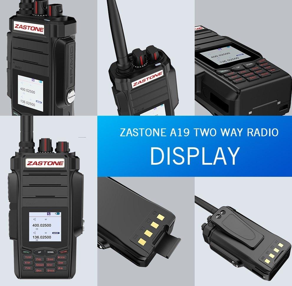 38996d5ad Generic 2PCS Professional Two way Radio Portable Walkie Talkie UHF VHF 10W  Radio 2800mAh 999CH Ham Radio Communicator telsiz A19 HIVMD