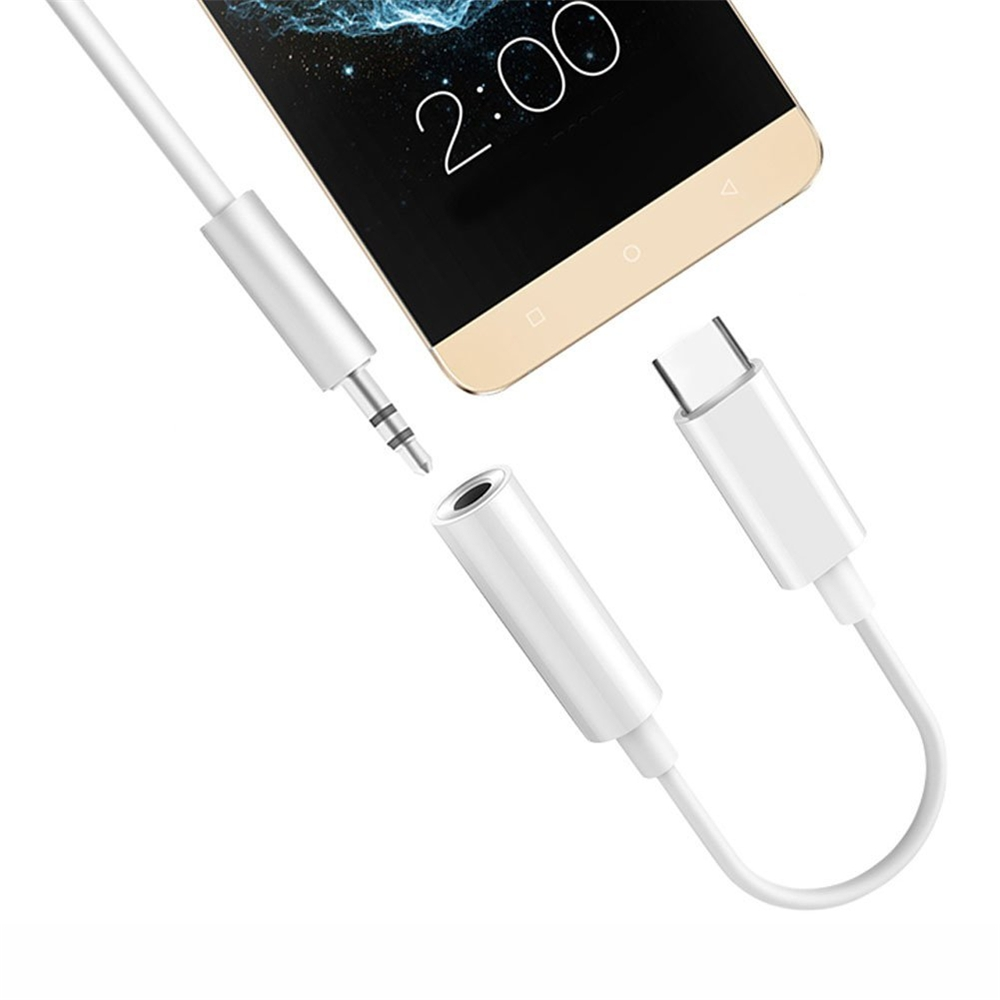 USB Type C to 3.5mm  Audio Headphone Jack Adapter Cable