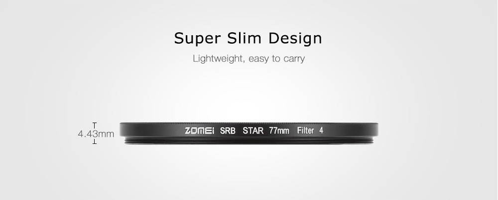 Generic Zomei 77mm Professional Points Star Star-effect
