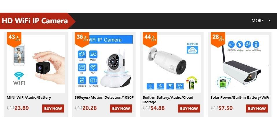 Generic Mini Security Wifi IP Camera Home Wireless Smart HD