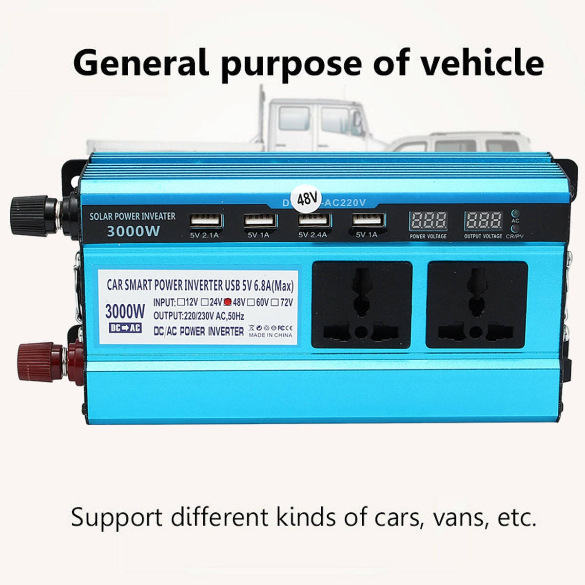 Generic Solar Power Inverter 3000W 48V DC To 220V AC Modified Sine