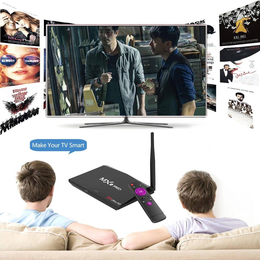 Generic MX9 Pro Android 8 1 TV Bo x RK3328 Quad Core 64Bit 2G + 16G