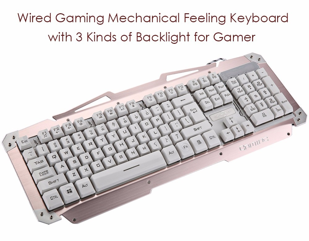 Portable Wired Cool Gaming Mechanical Feeling Keyboard with 3 Kinds of Backlight for Gamer