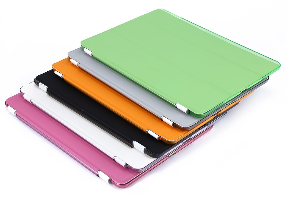 Detachable Slim Flip Leather Smart Cover Hard Back Case for iPad Air 2