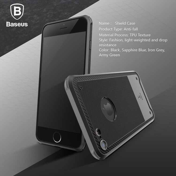 For iPhone 7  7 plus 4.7  5.5 inches Baseus Shield Case Drop-resistance Protective TPU Back Cover case Light-weighted for iPhone7  7 Plus with Retail Box (2)