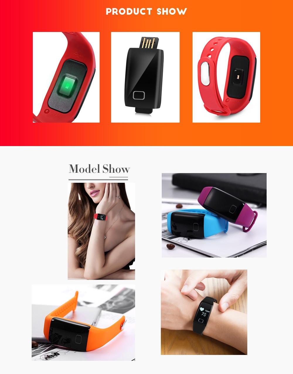 T1S Dynamic Heart Rate Tracker Message Push Smart Bracelet