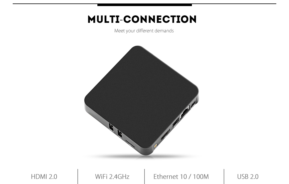 U2C Z - Pro TV Box Android 7.1 Support 4K 2.4GHz WiFi Amlogic S905X