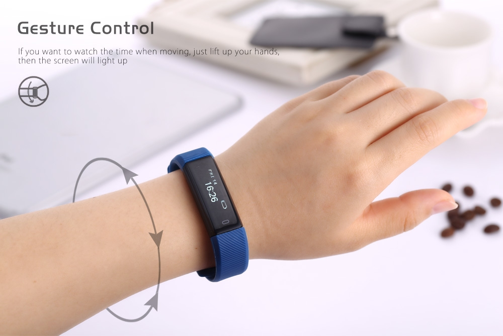 ID115 Smart Wristband Activity Tracker Sleep Monitor USB Rechargeable Interface