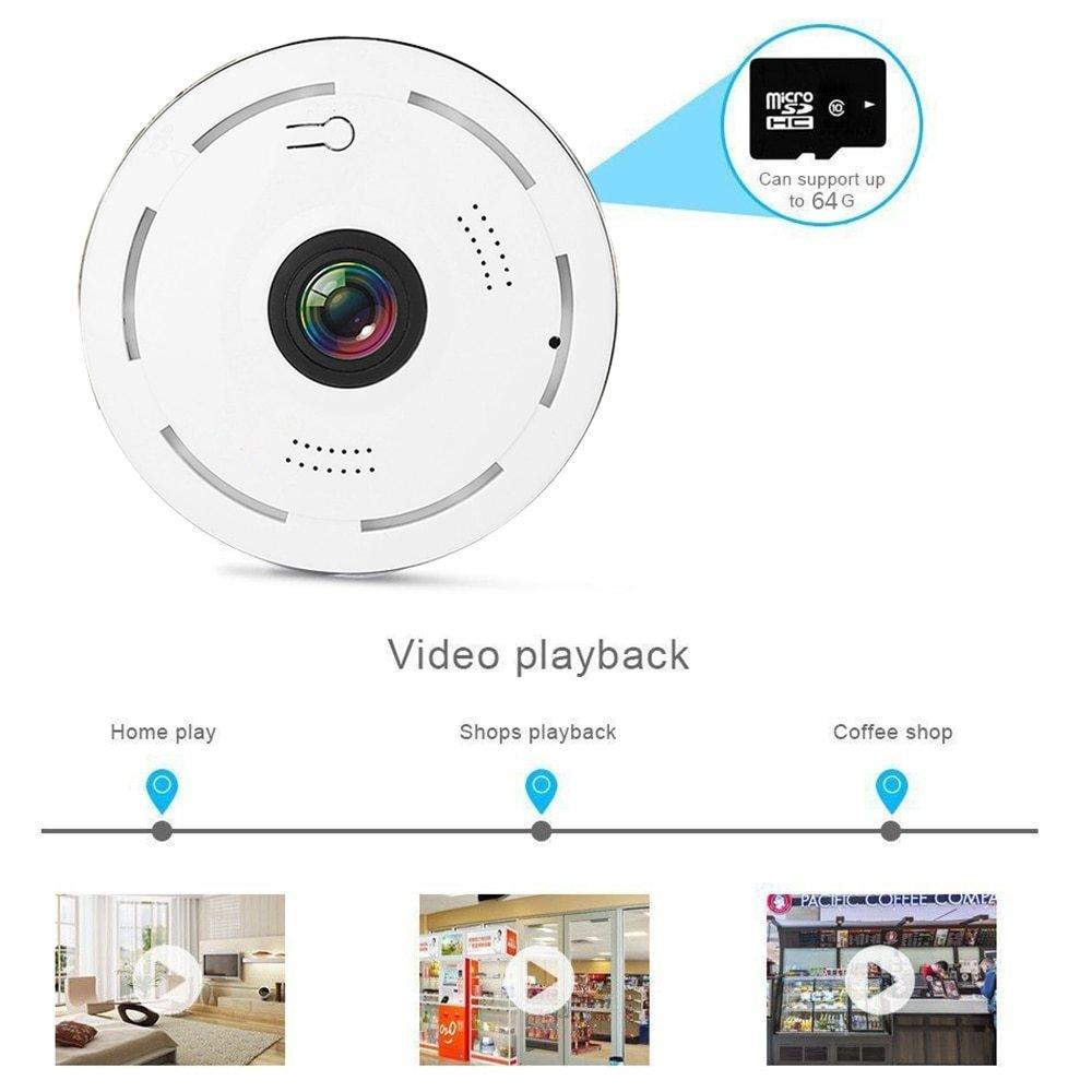 Generic Kruiqi Mini Wifi IP Camera 1080P 360 Degree Camera IP