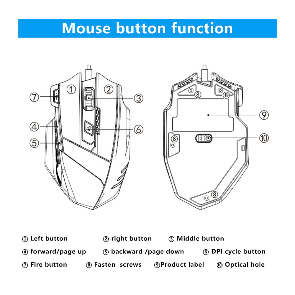Buy Generic Usb Wired Mouse Mechanics Feeling Premium 7 Keys Wiring Diagram Color Colour Black Material Abs Product Size 8134cm Length 140cm Model T 60 Connection With Computer Number Of