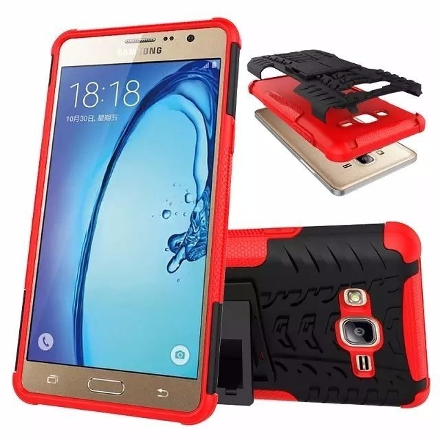 For Samsung On7 Case Luxury Hybrid TPU Shock Proof Silicone + Hard Case Cover For Samsung Galaxy On7 O7 G6000 Case Back Cover (9)