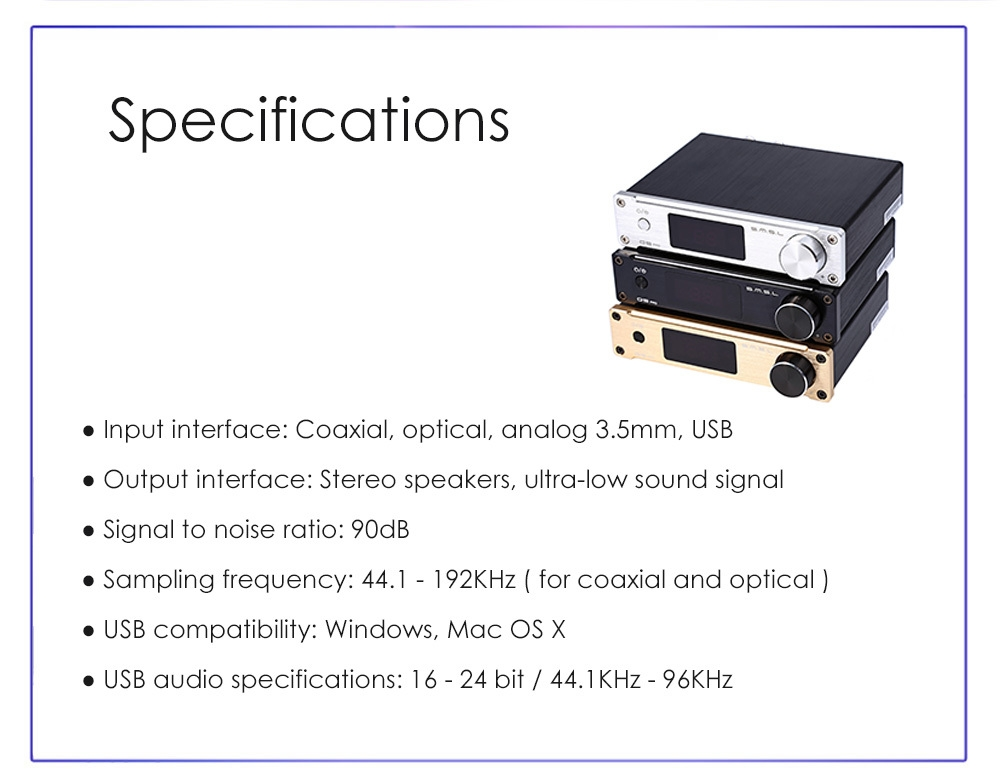 SMSL Q5pro USB Coaxial Optical Bass Digital Power Amplifier with Remote Controler