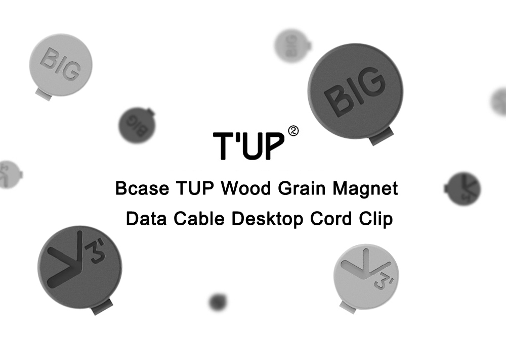 Bcase Tup Wood Multipurpose Management Magnet Wire Desktop Cable Clip