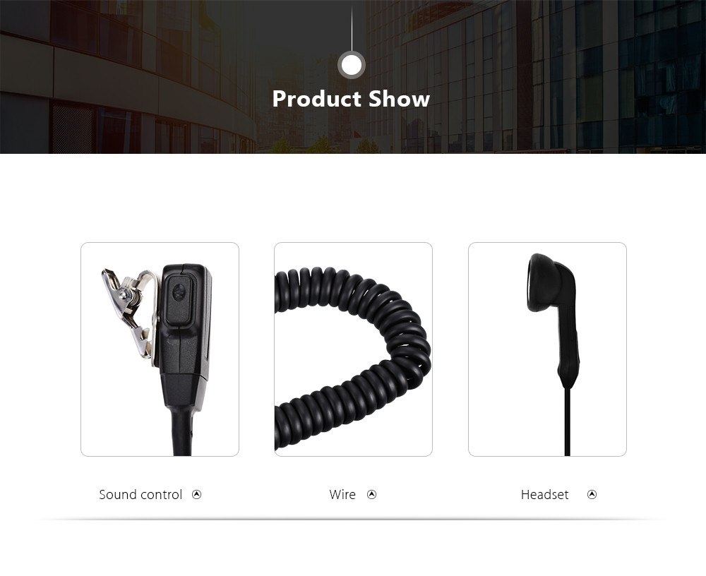 SH - 02K Air Acoustic Tube Mic Walkie Talkie Headset